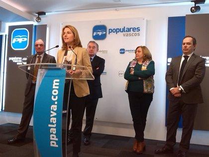 """PP de Euskadi tendrá su propio grupo territorial en el Senado para reforzar la """"voz"""" de los vascos no nacionalistas"""