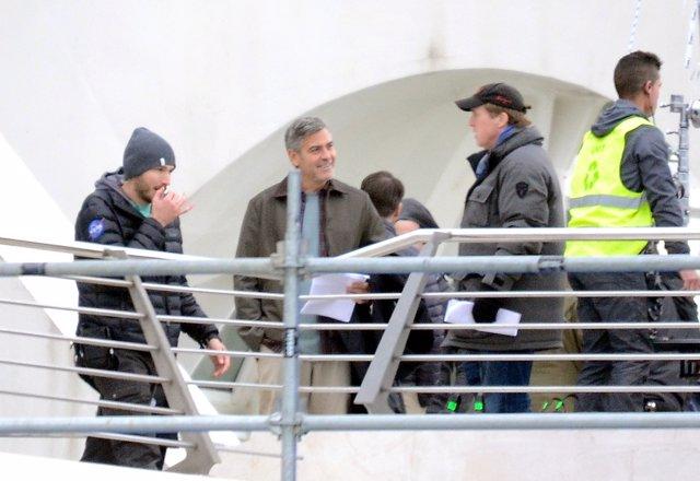 George Clooney en la Ciudad de las Artes y las Ciencias de Valencia