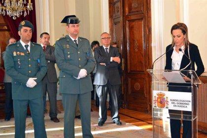 Dos sargentos de la Benemérita de Benasque, Medallas al Mérito de la Protección Civil