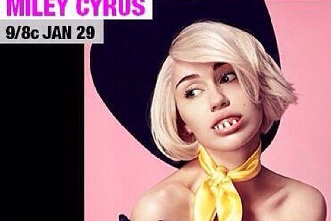 Miley Cyrus luce de manera inquietante y desnuda para promocionar su concierto e