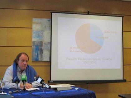 Un exedil del PP imputado cifra en 63 millones de euros el fraude en Emarsa, 46 sin investigar