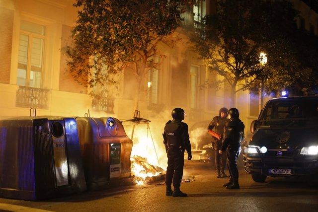 Disturbios en Madrid en la manifestación de apoyo al barrio de Gamonal de Burgos