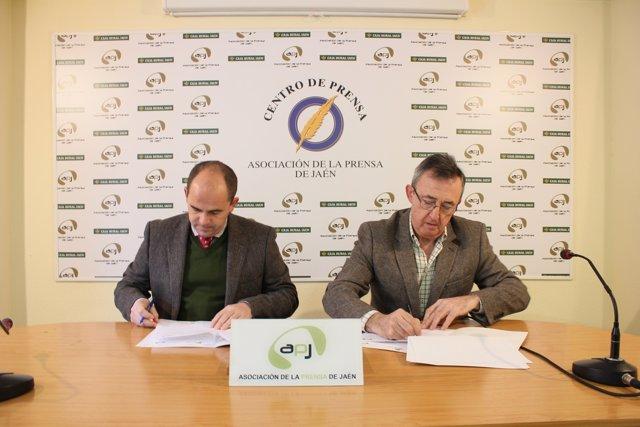 Convenio de colaboración entre Geolit y la Asociación de la Prensa de Jaén