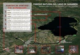 Mapa actualizado con las localizaciones de los vertidos
