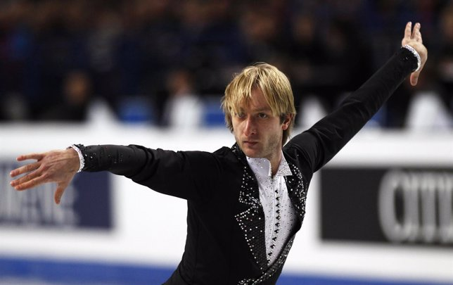 El patinador ruso Evgeni Plushenko