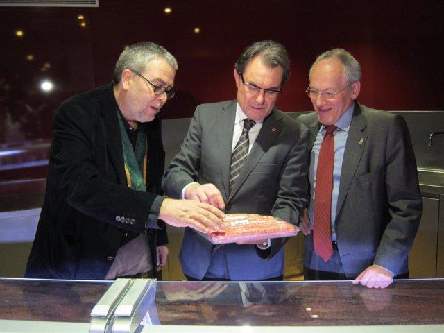 Josep Dolcet, Artur Mas y Joan Estapé