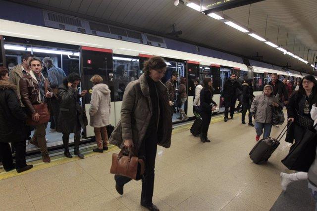 Paros del metro de Madrid