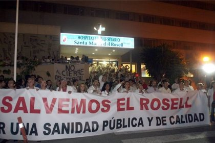 """Plataforma Sanidad acuerda manifestación en defensa del Rosell en febrero y denuncia la """"peligrosa"""" situación sanitaria"""