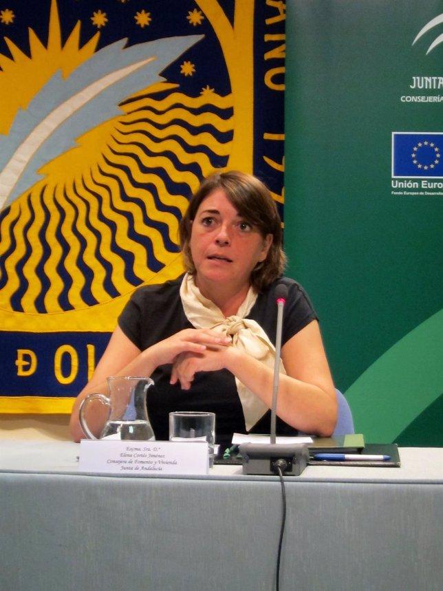 La consejera de Fomento y Vivienda de la Junta, Elena Cortés