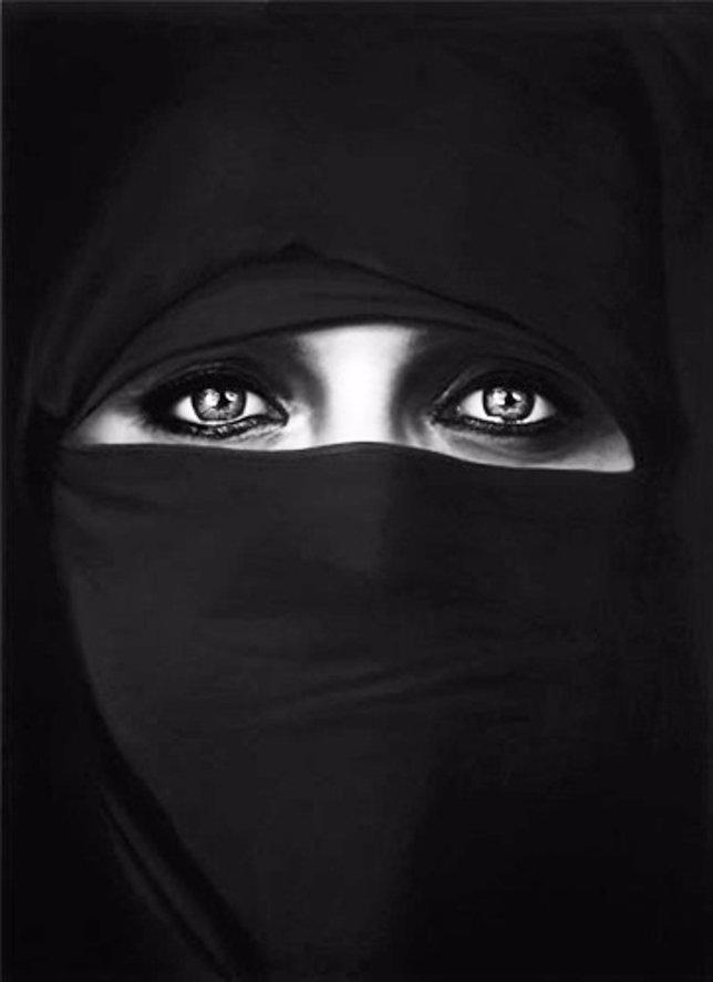 Untitled (Barbara in a Burka) of Robert Longo