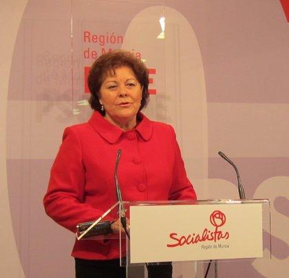 PSOE destaca que Región deja de recibir 25 millones en 3 años del nivel acordado en dependencia desde que gobierna Rajoy