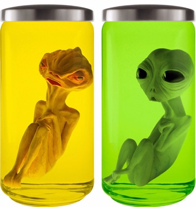 Aliens decorativos en formol de la tienda aliens4sale