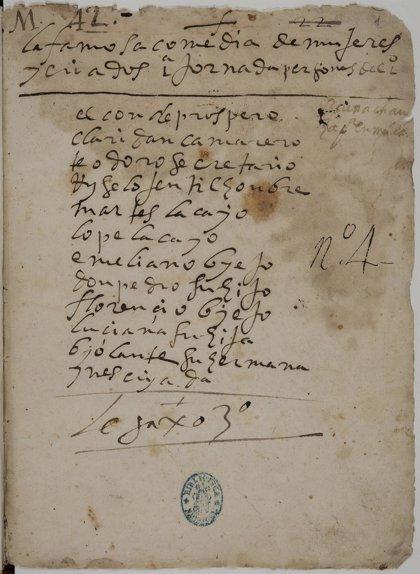 Hallan un manuscrito de la comedia inédita de Lope de Vega 'Mujeres y criados'
