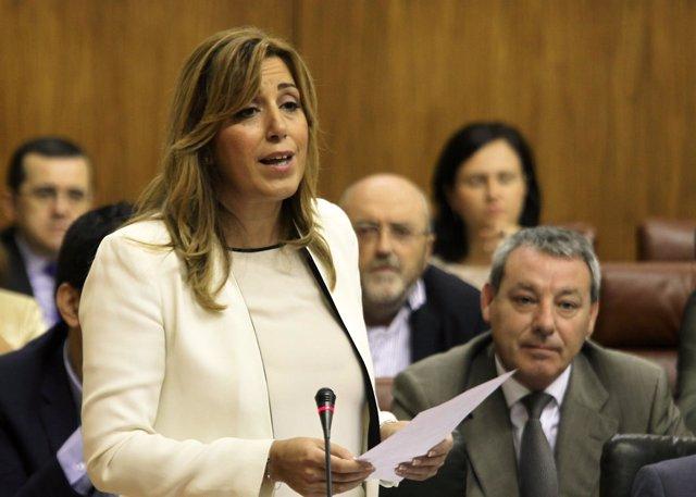 Susana Díaz en el Pleno del Parlamento