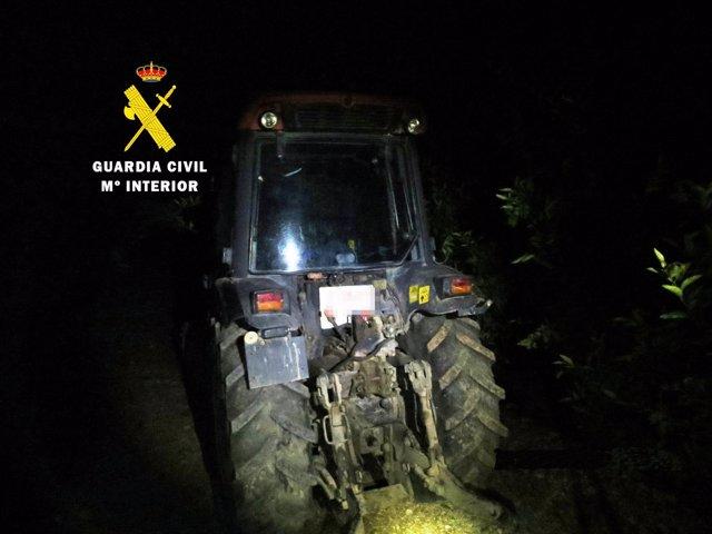 Imagen del tractor sustraído y recuperado