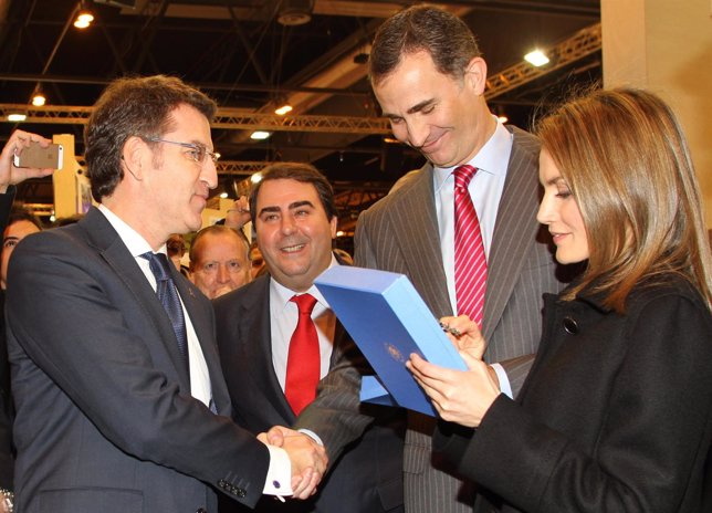 Feijóo y los príncipes de Asturias en Fitur