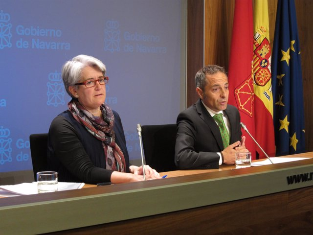 Lourdes Goicoechea y Juan Luis Sánchez de Muniáin