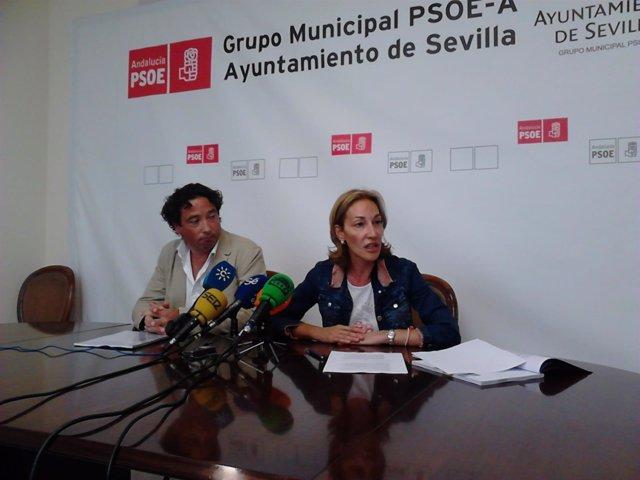 Una de las ruedas de prensa del comité de Sevilla Global.