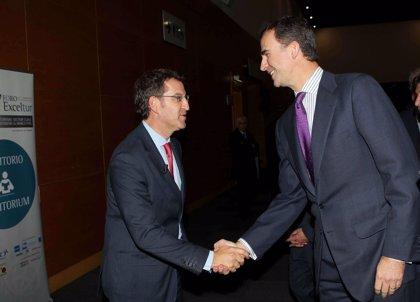 Feijóo agradece al Príncipe su interés por Galicia
