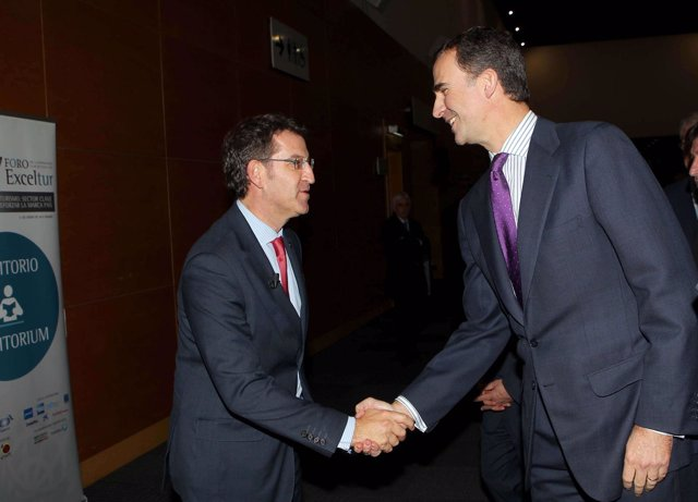 El presidente de la Xunta y el Príncipe de Asturias