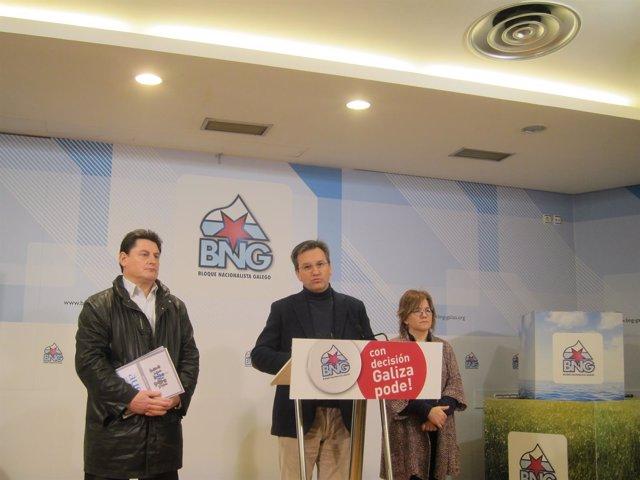 Vence (BNG), en rueda de prensa tras reunirse con representantes de autónomos