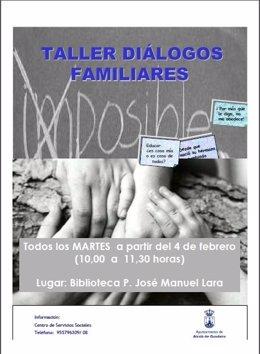 Cartel del programa Diálogos Familiares 2014 de Alcalá de Guadaíra.
