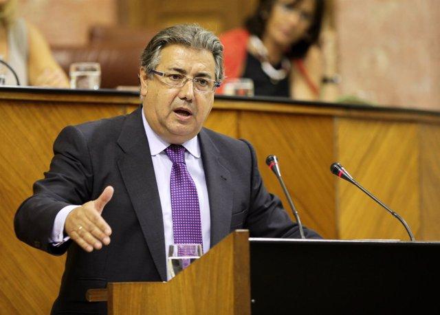 Juan Ignacio Zoido, en el Pleno del Parlamento andaluz