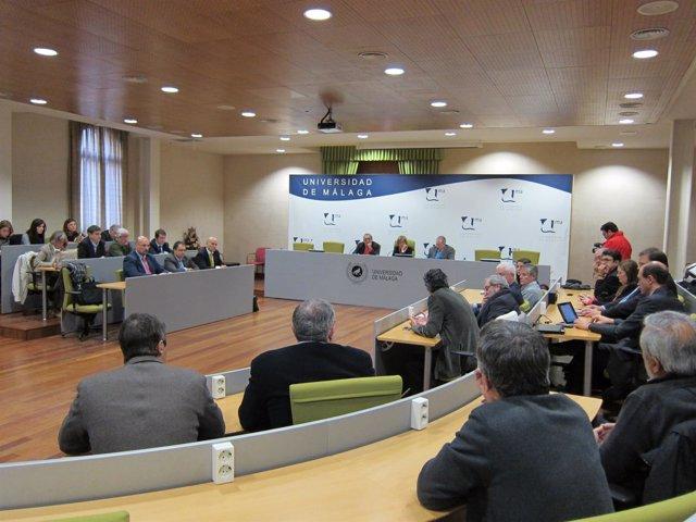 Investigadores de la UMA y empresas del PTA se reúnen en el Rectorado
