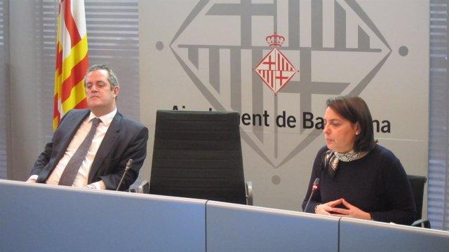 Joaquim Forn y Sònia Recasens