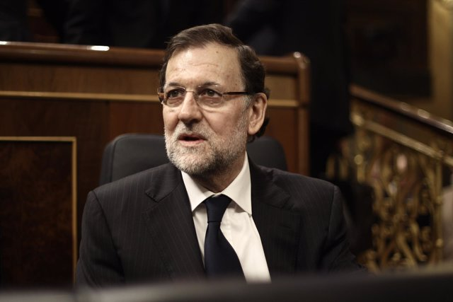 Rajoy y Gallardón en el Pleno del Congreso
