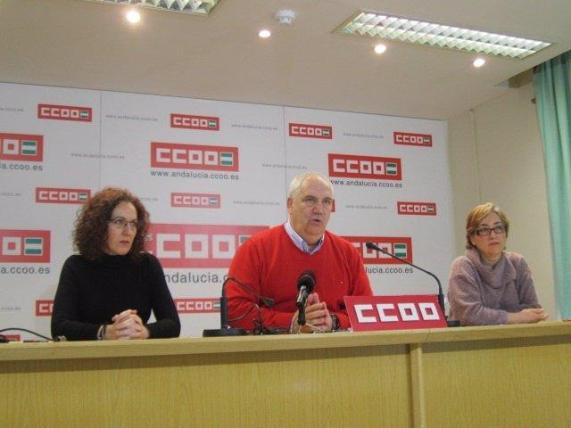 El secretario general de CCOO-A, Francisco Carbonero