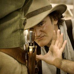 Quentin Tarantino en el rodaje de DJANGO DESENCADENADO