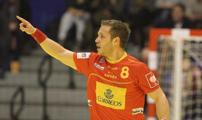 España debuta con victoria en el Europeo de balonmano
