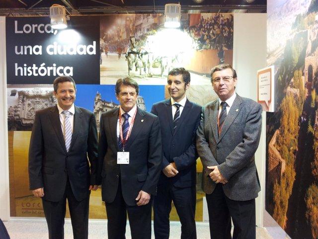 El alcalde de Lorca en Fitur junto al consejero de Turismo