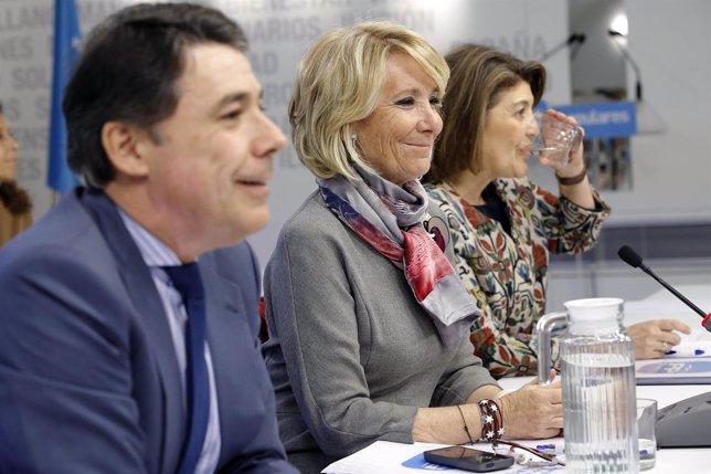 Esperanza Aguirre en la Junta del PP
