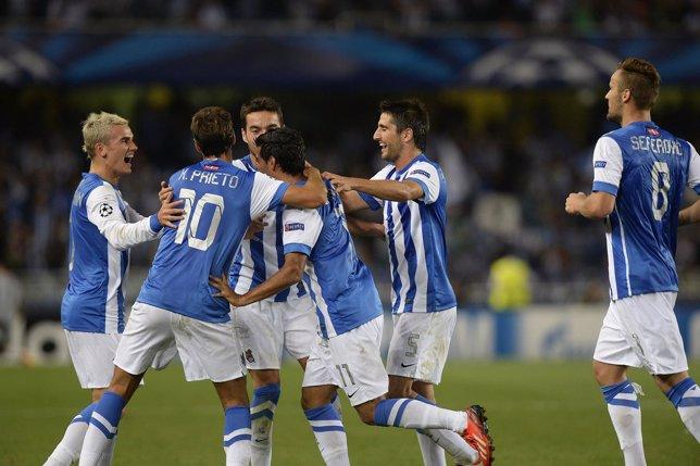 La Real Sociedad celebra una victoria