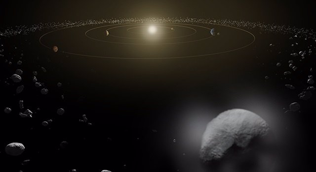 Hallan agua en el objeto más grande del cinturón de asteroides