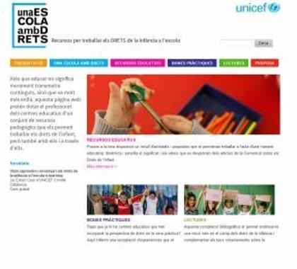 Unicef Catalunya impulsa una web para potenciar los derechos de la infancia en las aulas