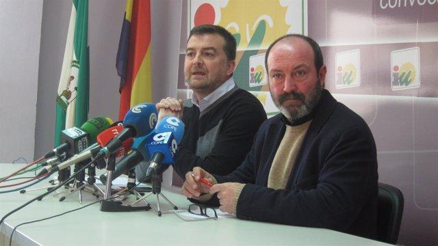 El coordinador regional de IULV-CA en Andalucía, Antonio Maíllo, en Huelva.