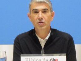 El protavoz del grupo municipal de CHA, Juan Martín