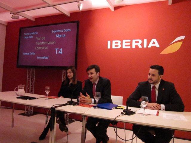 Presentación de Iberia en Fitur