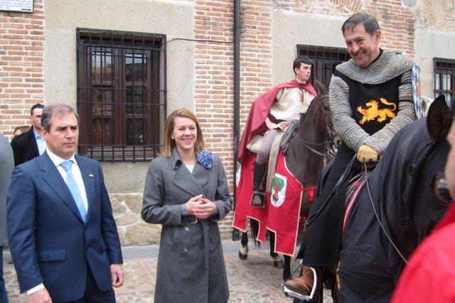 Maria Dolores De Cospedal En Unas Jornadas Medievales En Oropesa