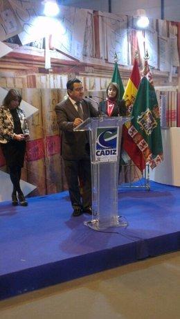 El presidente de la Diputación de Cádiz, José Loaiza, en el Día de la Provincia