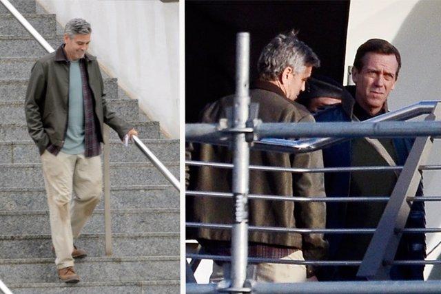 George Clooney y Hugh LAurie convierten el Museo de las Ciencias en una nave