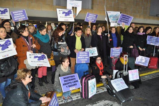 PSOE Aeropuerto Aborto Foto Y Audio