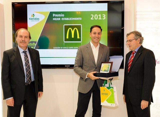 ADIF otorga un premio al McDonald's de Santa Justa