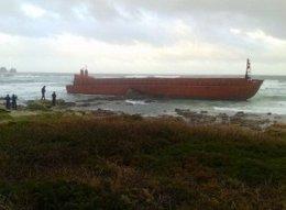 Gabarra que embarcó en Camariñas (A Coruña)