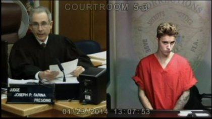 Bieber, en libertad tras participar ebrio en una carrera ilegal en Miami