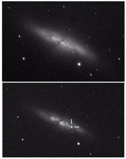 Supernova en la Galaxia del Cigarro