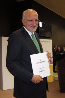 Juan Roig, en la presentación de resultados de 2012.